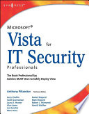 Microsoft Vista for IT Security Professionals