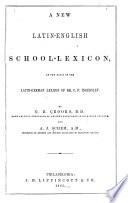A New Latin English School Lexicon book