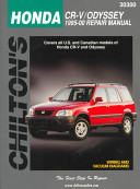 Chilton S Honda Cr V Odyssey 1995 00 Repair Manual