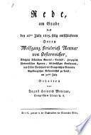 Rede, am Grabedes den 28th July selig entschlafenen Herrn Wolfgang Friedrich Renner von Oesterreicher ... gehalten