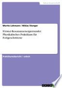 Förster-Resonanzenergietransfer. Physikalisches Praktikum für Fortgeschrittene