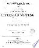 Jenaische allgemeine Literatur Zeitung  Jahrg  1  38  With  Intelligenzblatt  Jahrg  1  38  And  Erg  nzungsbl  tter  Jahrg  1  29