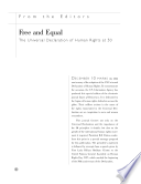 Free And Equal The Universal Declaration Of Human Rights At 50