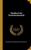 Handbuch Der Kunstwissenschaft