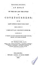 An Essay On The Sin And The Evils Of Covetousness