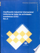 Clasificaci  n Industrial Internacional Uniforme de Todas las Actividades Econ  micas  CIIU