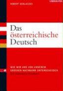 Das   sterreichische Deutsch