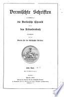 Vermischte Schriften im Anschlusse an die Berlinische Chronik und an das Urkundenbuch