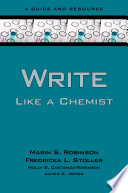 Write Like a Chemist Not A Competitor This Book Is An