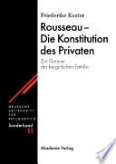 Rousseau - Die Konstitution des Privaten