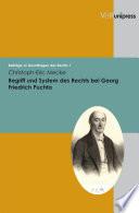 Begriff und System des Rechts bei Georg Friedrich Puchta
