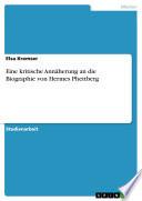 Eine kritische Annäherung an die Biographie von Hermes Phettberg