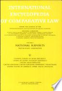 International Enclopedia of Comparative Law