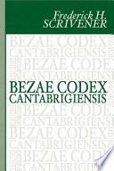 Bezae Codex Cantabrigiensis