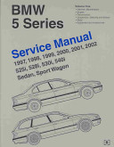 Bmw 5 Series E39 Service Manual 1997 2002 Volume 2 525i 528i 530i 540i Sedan Sport Wagon