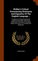 download ebook walker's critical pronouncing dictionary and expositor of the english language ... pdf epub