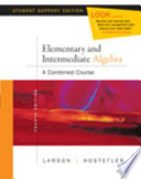 Elementary and Intermediate Algebra  A Combined Course  Student Support Edition