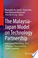 The Malaysia Japan Model on Technology Partnership