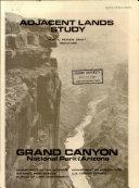 Adjacent Lands Study  Grand Canyon National Park  Arizona