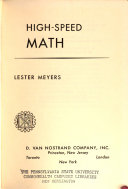 High speed Mathematics