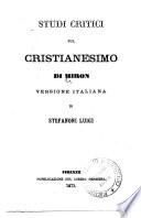 Studi critici sul Cristianesimo