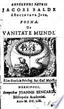 Poema de vanitate mundi