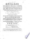Opisanie Polskich Elaza Fabryk W Kt Rym Wiadoetwa Historyk W Wzmiankui Cych Miejsca Minera W Przytoczono Etc