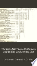 The New Army List Militia List And Indian Civil Service List