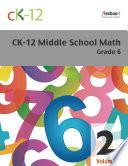 CK 12 Middle School Math Grade 6  Volume 2 Of 2
