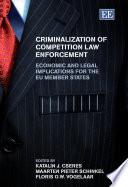 Criminalization of Competition Law Enforcement