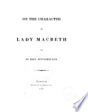 On the Character of Lady Macbeth
