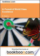 in pursuit of world class excellence