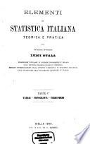 Elementi Di Statistica Italiana Teorica E Pratica