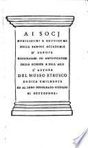 Difesa dell Alfabeto degli antichi Toscani pubblicato nel 1737 dall autore del Museo Etrusco  disapprovato dall illustrissimo Sig  Marchese Scipione Maffei nel Tomo V delle sue Osservazioni Letterarie date in luce in Verona