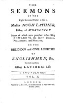 download ebook the sermons of ... hugh latimer ... many of which were ... on the religious and civil liberties of englishmen pdf epub