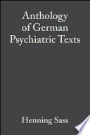 Anthology of German Psychiatric Texts