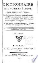 Dictionnaire mytho herm  tique