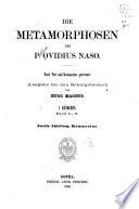 Die metamorphosen des P  Ovidius Naso  bd  1  abt  Buch I V  Text