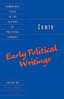 Comte: Early Political Writings