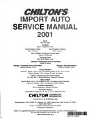 Chilton S Import Auto Service Manual
