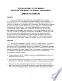 The Secretary of the Army s Senior Review Panel Report on Sexual Harassment  Volume 1