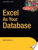 Excel as Your Database
