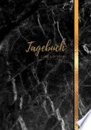 Tagebuch A5 Liniert 100 Seiten 90g M2 Soft Cover Motiv Marmor Schwarz Fsc Papier