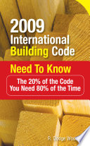 2009 International Building Code Need To Know The 20 Of The Code You Need 80 Of The Time