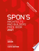 Spon S Architects And Builders Price Book 2021