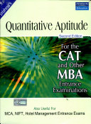 The Pearson Guide for Quantitative Aptitude for CAT And Other MBA Entrance Examinations, 2/e