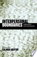 Interpersonal Boundaries