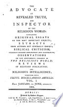 The Advocate of revealed truth, and inspector of the religious world ...