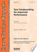 Tyre Compounding For Improved Performance book