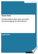 Die Reichskleinodien unter spezieller Berücksichtigung der Reichskrone